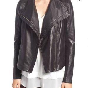Trouve / Chelsea28 Black Leather Moto Jacket